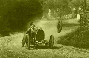 Edinburgh Sportcars' founder, Septimus Doney notices a problem at the Echilfechin wheel nut trials...